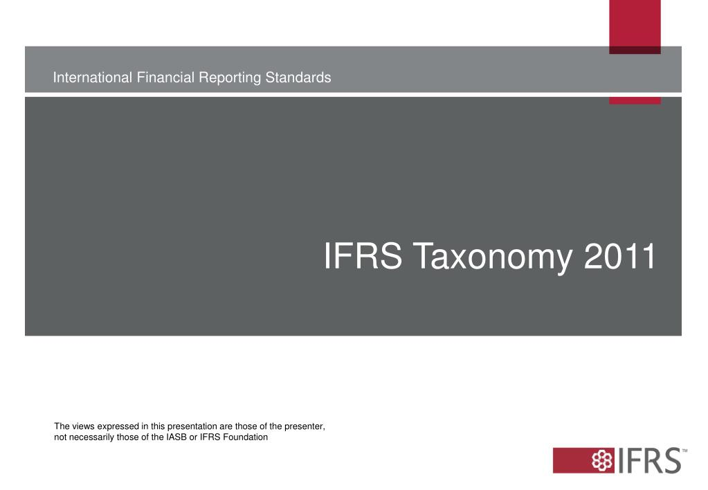 IFRS Taxonomy 2011