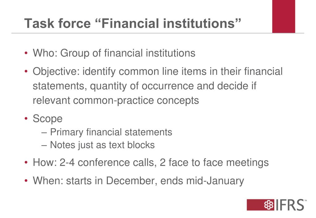 """Task force """"Financial institutions"""""""