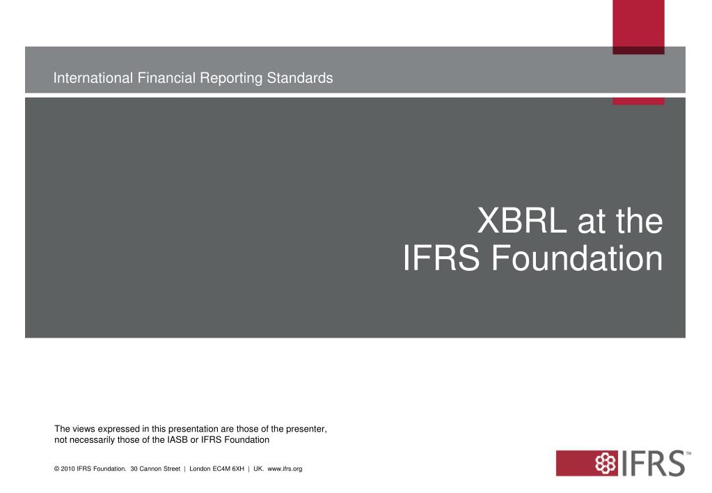 XBRL at the