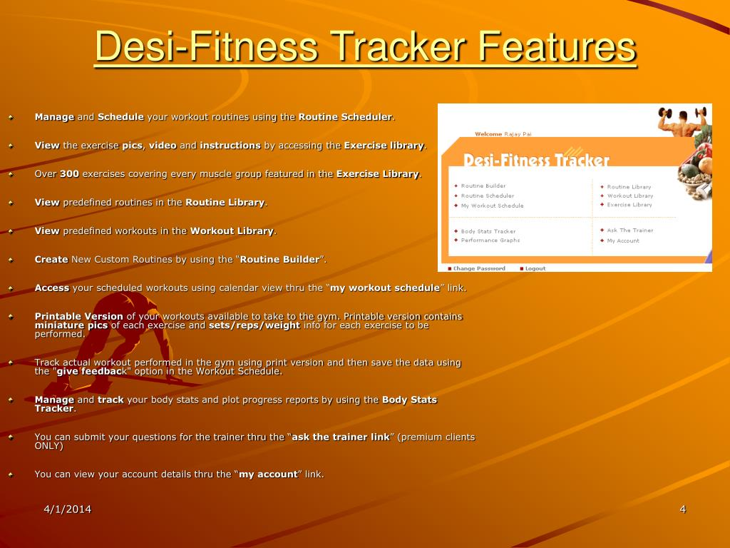 Desi-Fitness Tracker Features