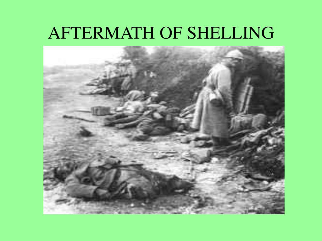 AFTERMATH OF SHELLING