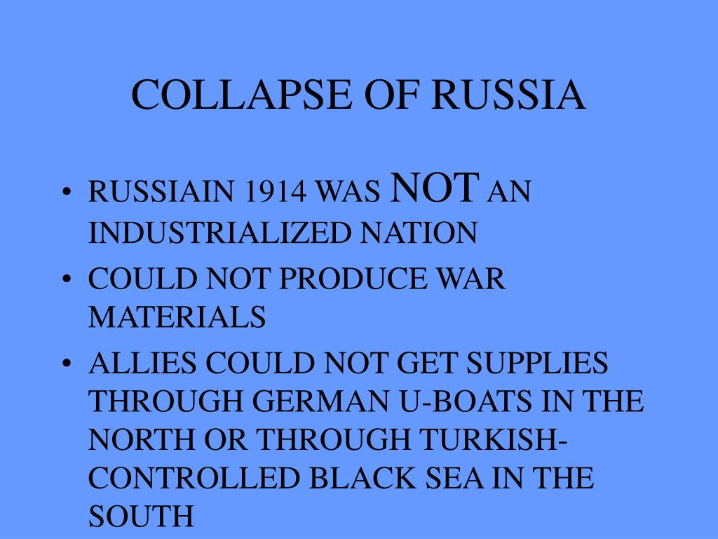 COLLAPSE OF RUSSIA