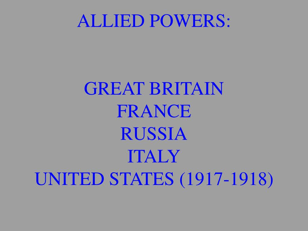 ALLIED POWERS: