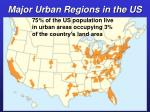 major urban regions in the us