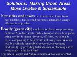 solutions making urban areas more livable sustainable