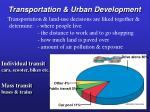 transportation urban development