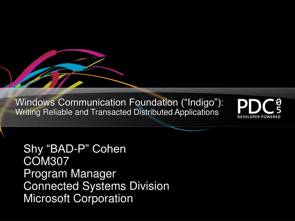 windows communication foundation indigo writing reliable and transacted distributed applications l.