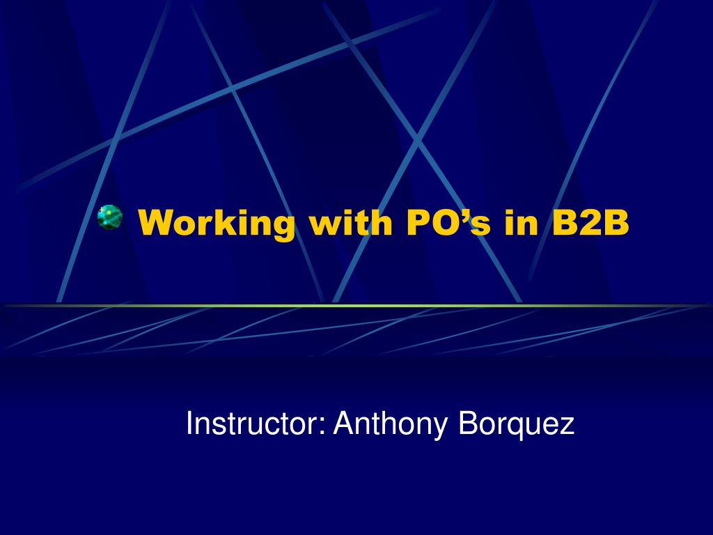 working with po s in b2b