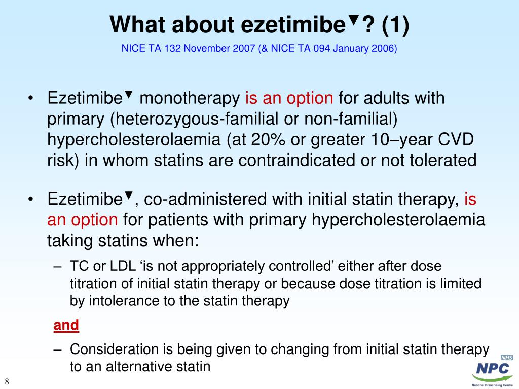 What about ezetimibe