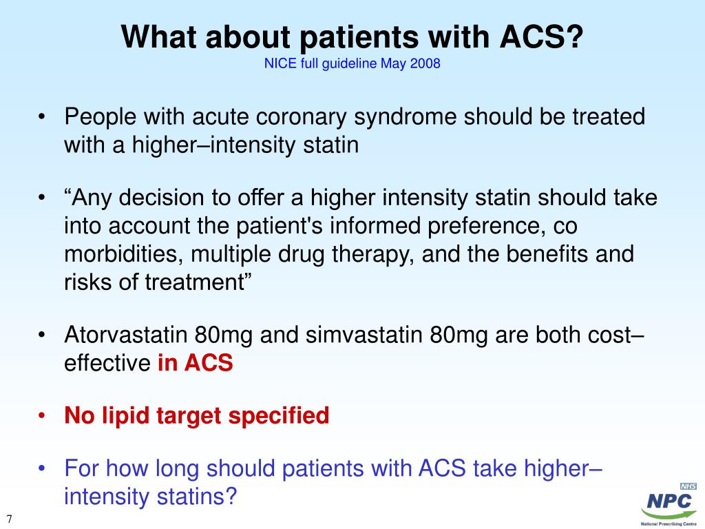 What about patients with ACS?