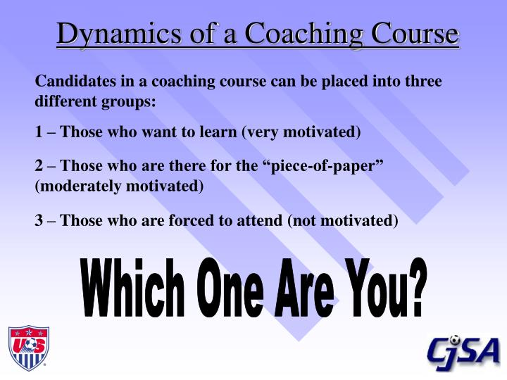 Dynamics of a coaching course