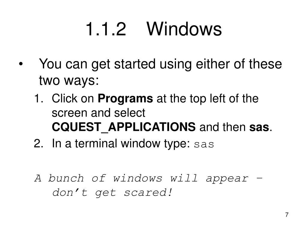 1.1.2Windows