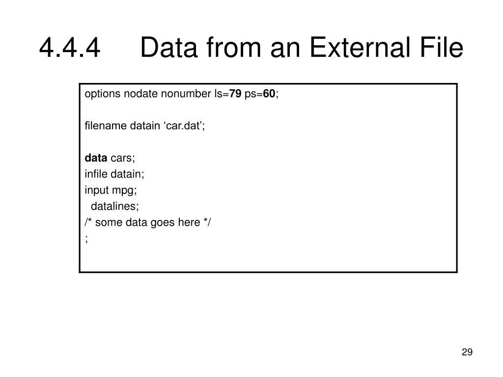 4.4.4Data from an External File