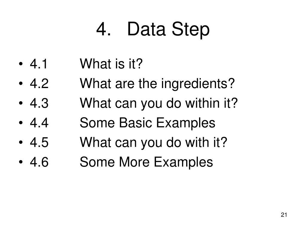 4.Data Step