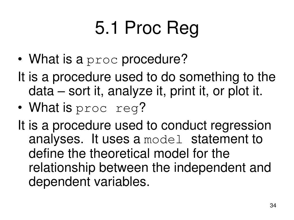 5.1Proc Reg