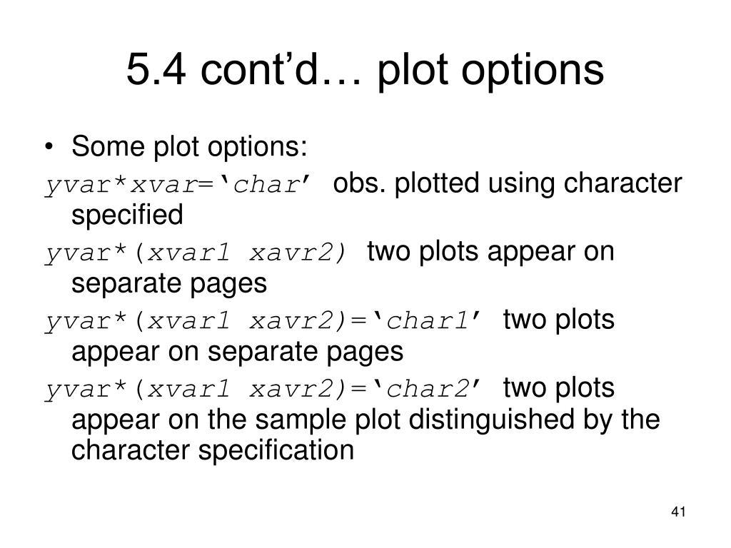 5.4 cont'd… plot options