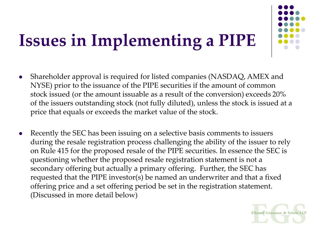 Issues in Implementing a PIPE