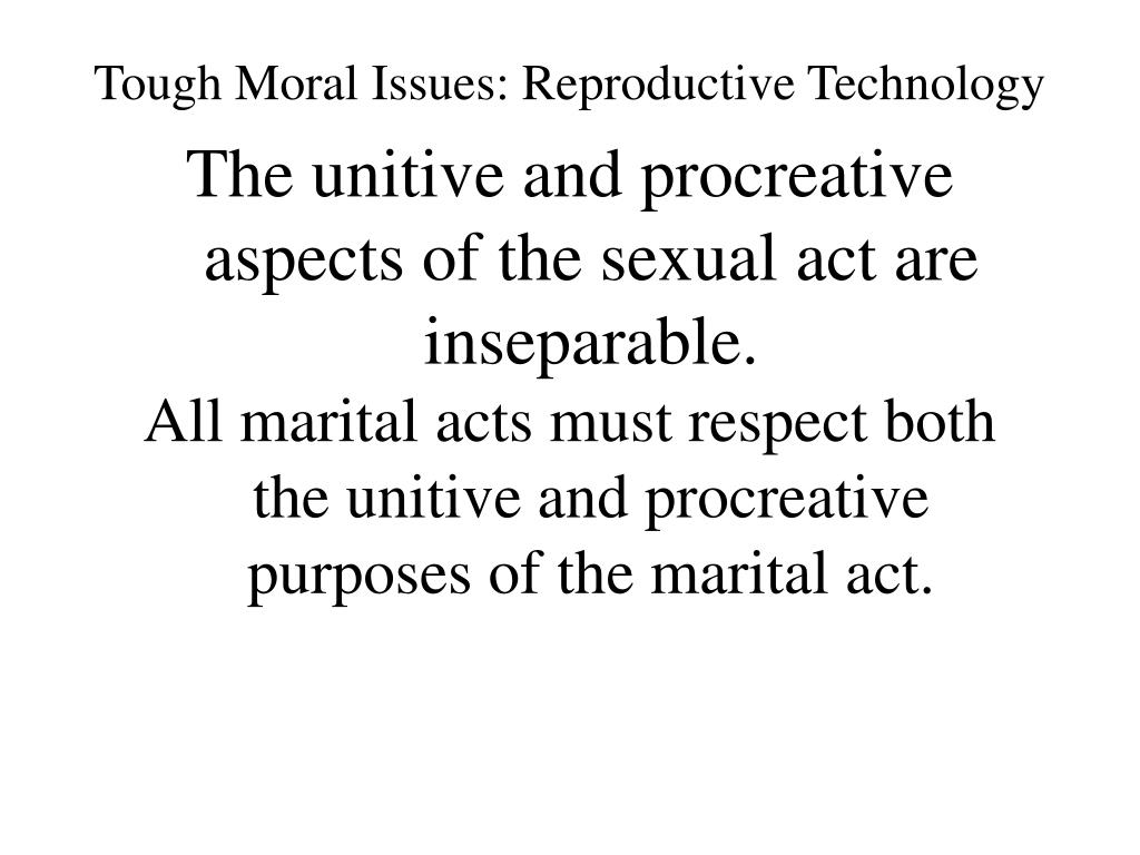 tough moral issues reproductive technology l.