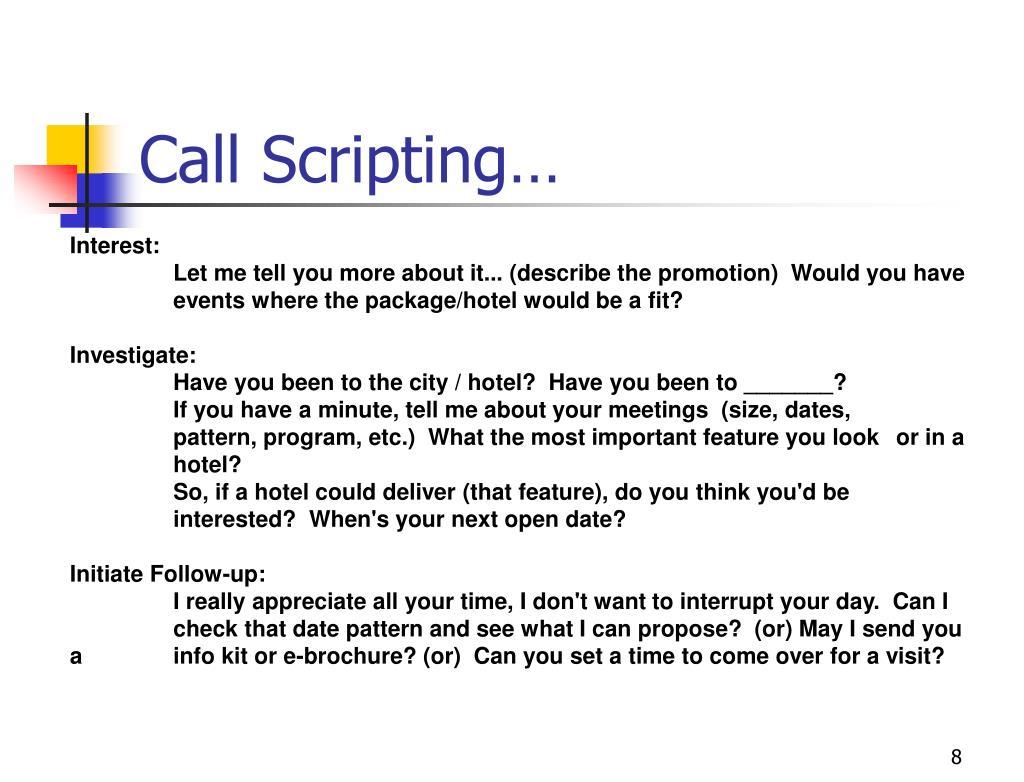 Call Scripting…