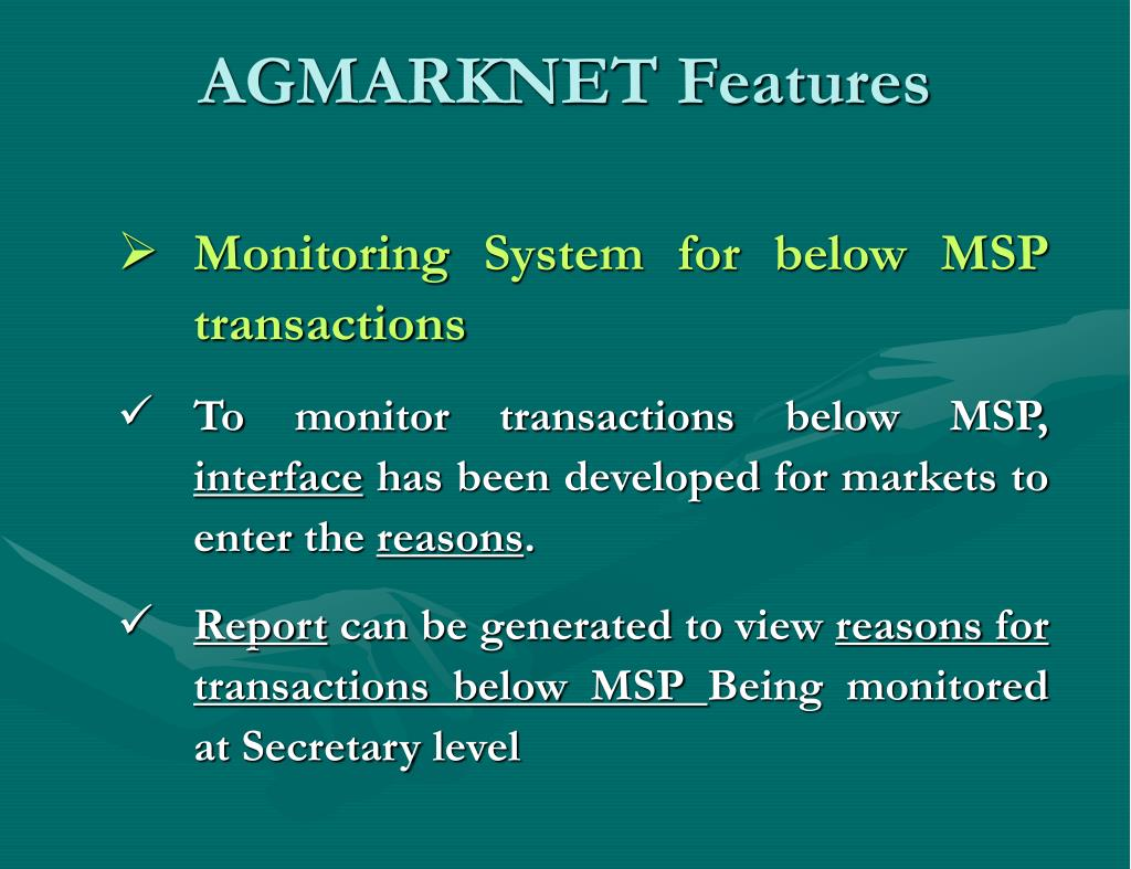 AGMARKNET Features