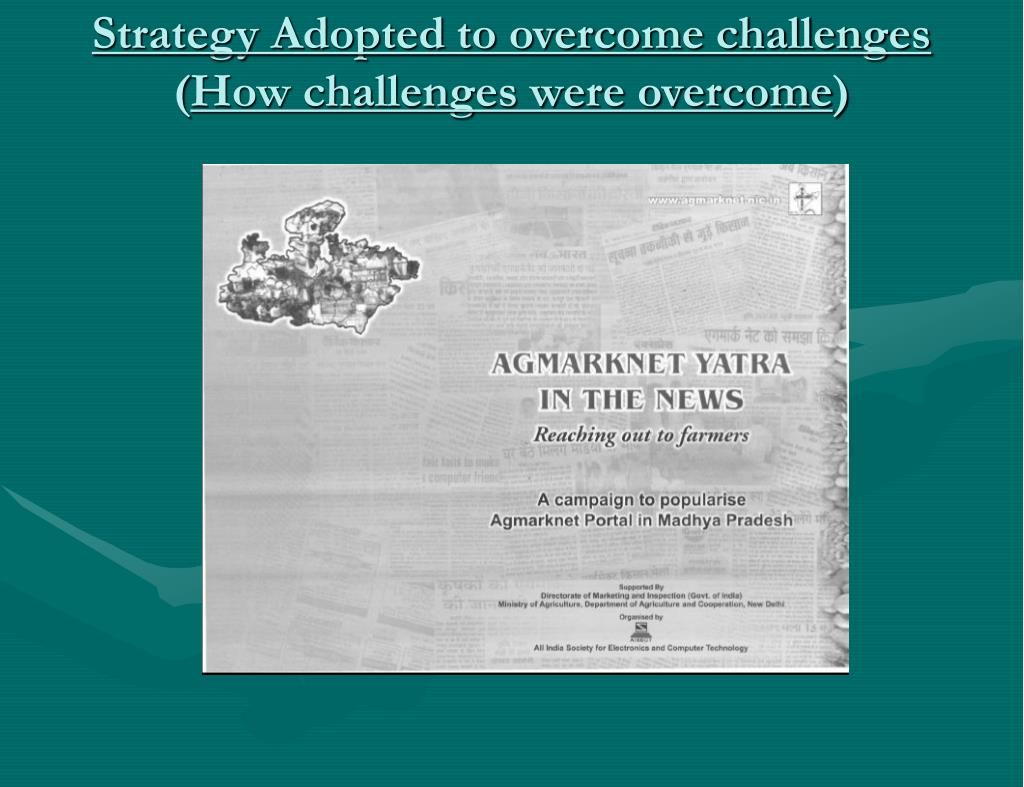 Strategy Adopted to overcome challenges