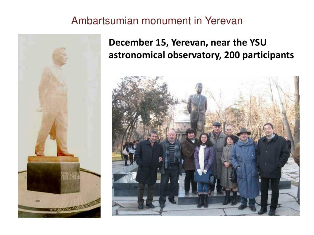 Ambartsumian monument in Yerevan