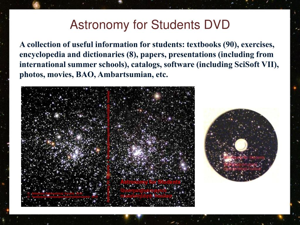 Astronomy for Students DVD