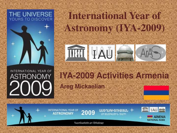 International year of astronomy iya 2009