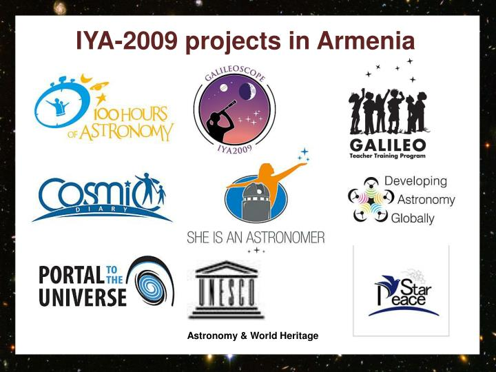 Iya 2009 projects in armenia