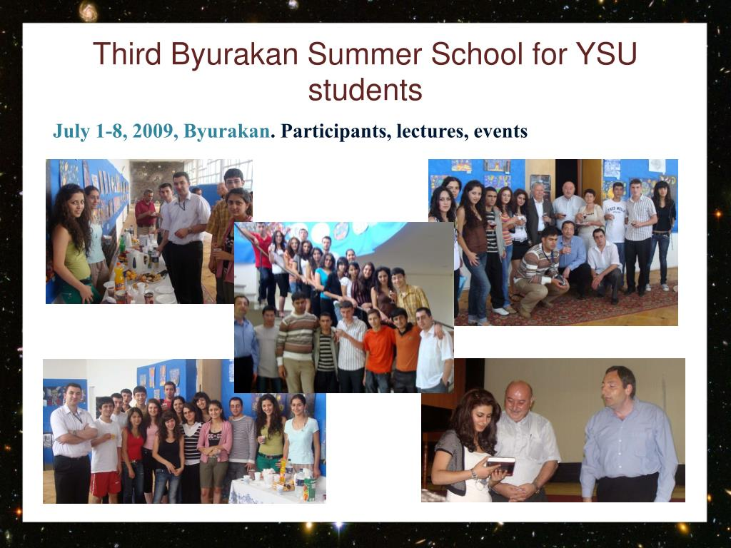 Third Byurakan Summer School for YSU students