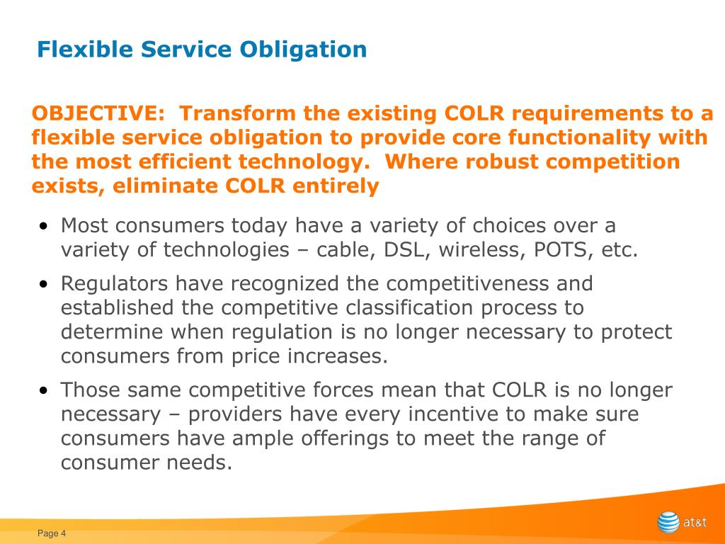 Flexible Service Obligation