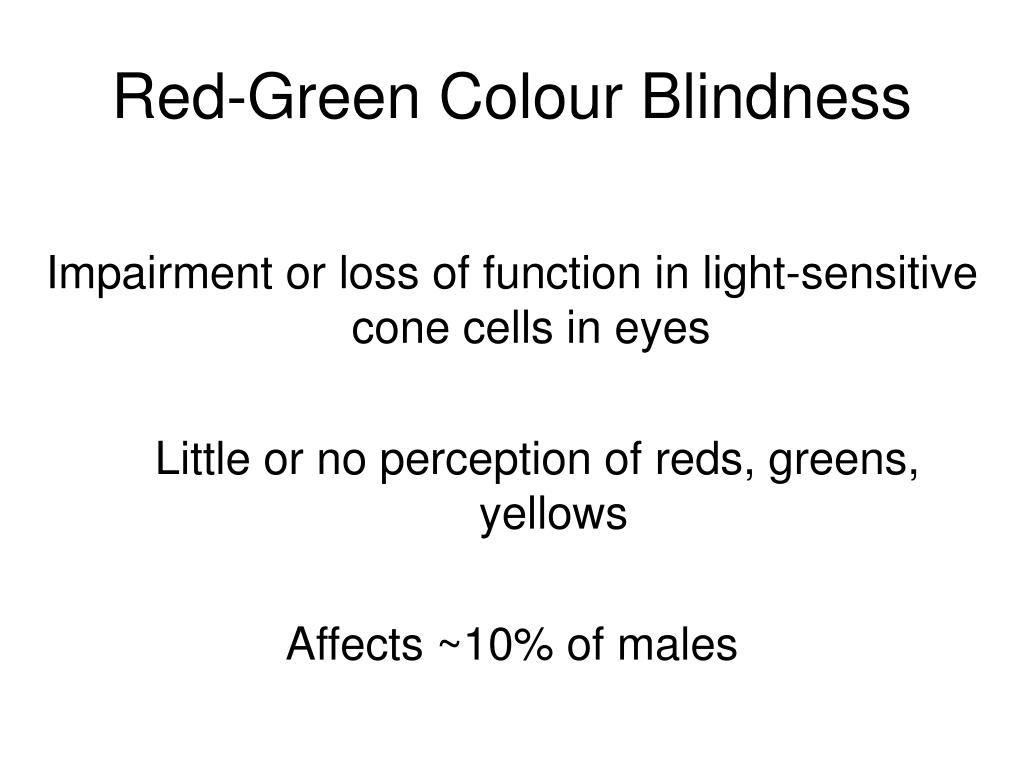 Red-Green Colour Blindness