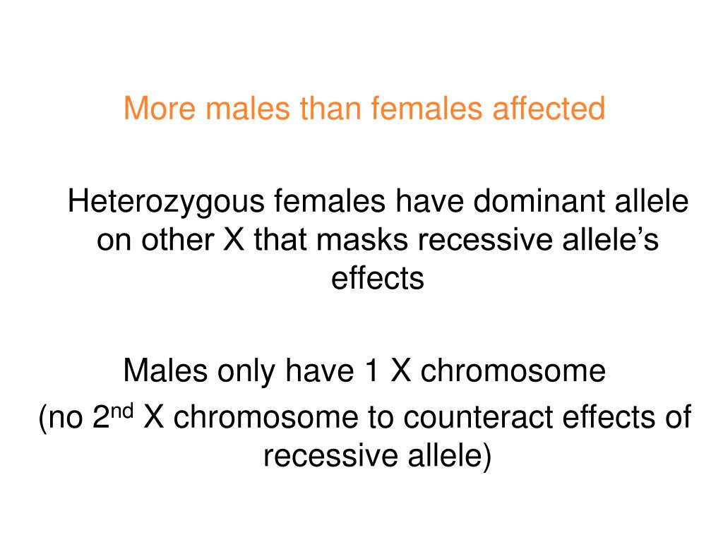 More males than females affected