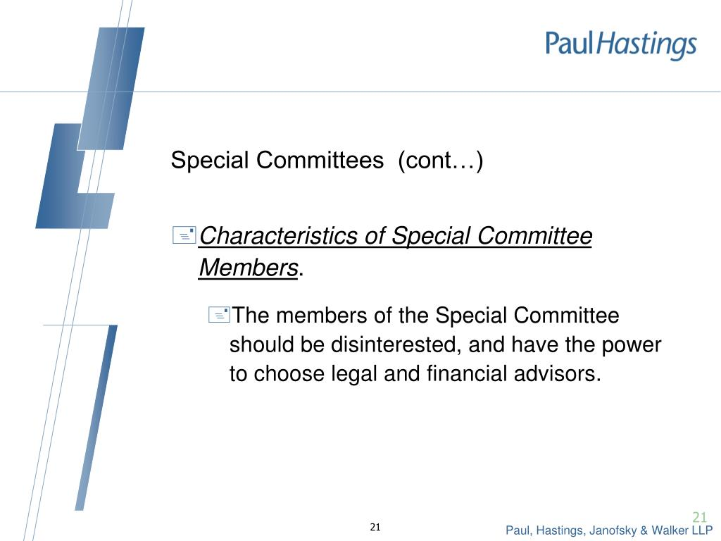 Special Committees  (cont…)