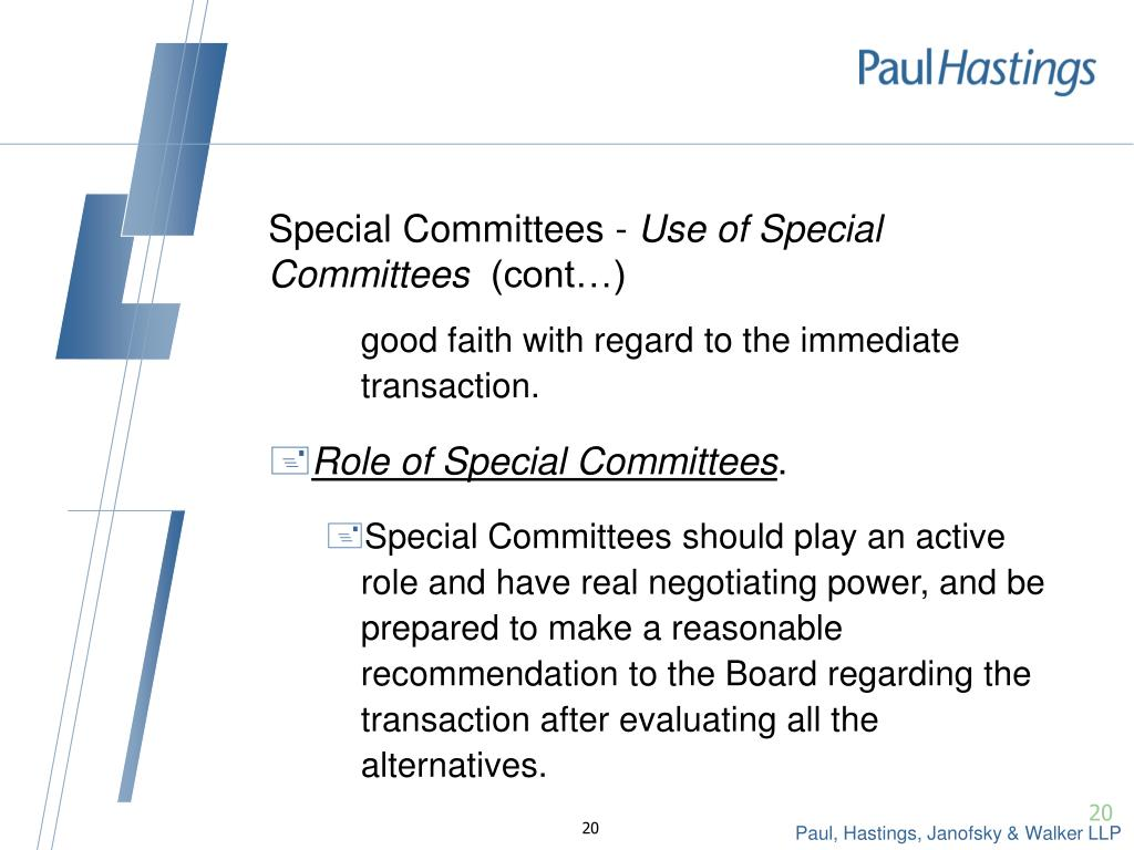 Special Committees -