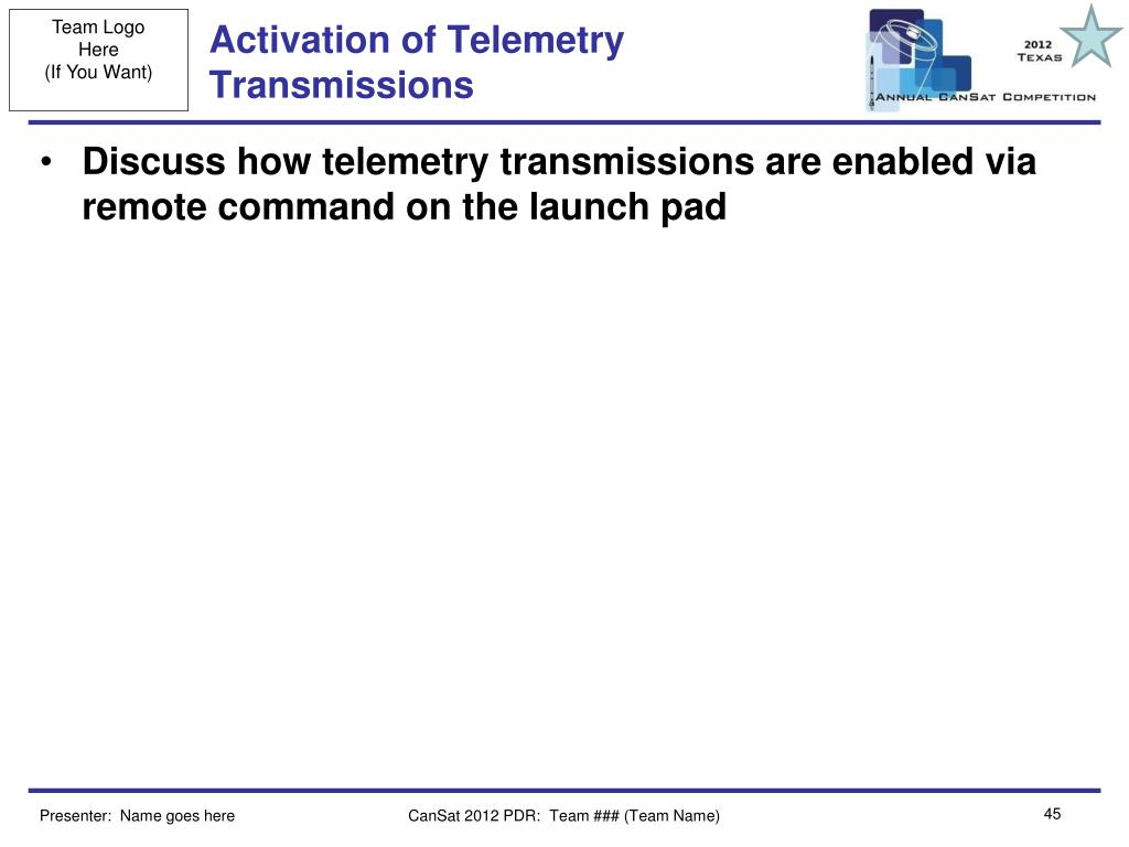 Activation of Telemetry