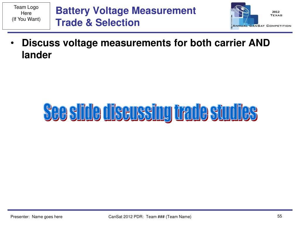 Battery Voltage Measurement