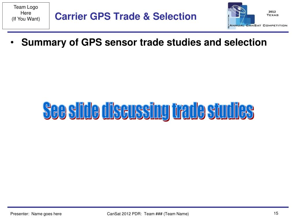 Carrier GPS Trade & Selection