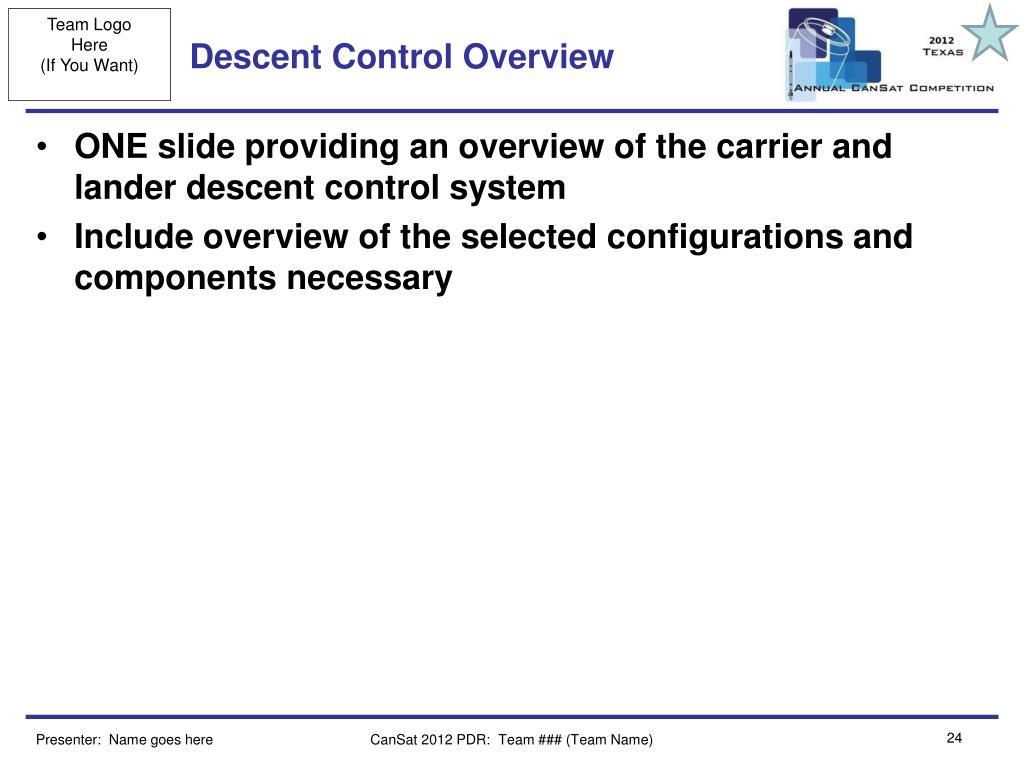 Descent Control Overview