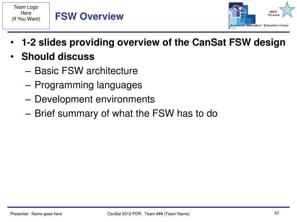 FSW Overview