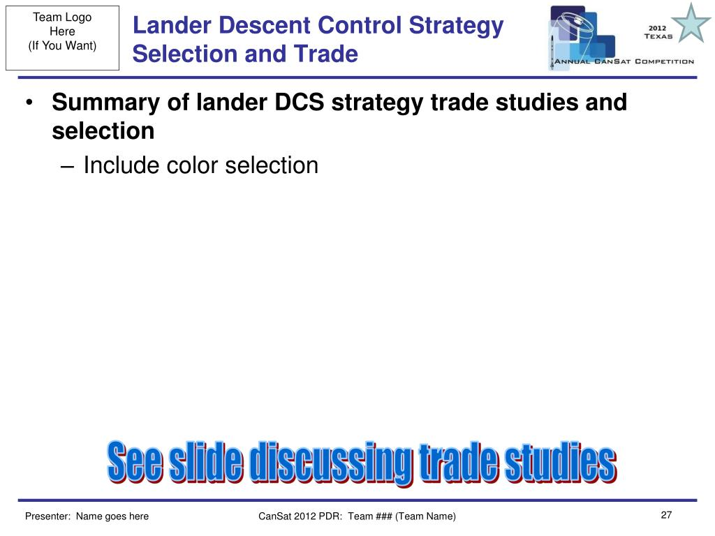 Lander Descent Control Strategy Selection and Trade