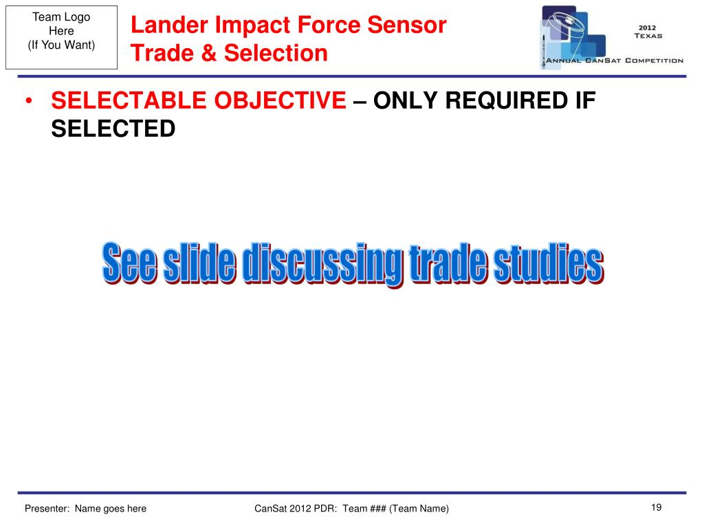 Lander Impact Force Sensor