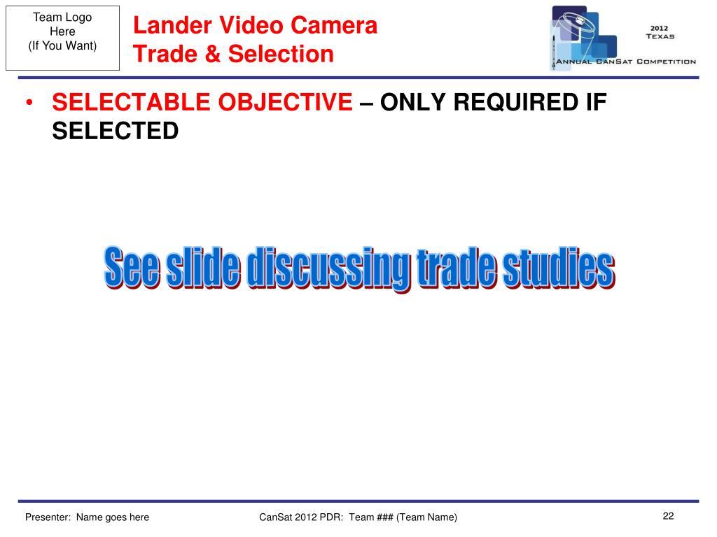 Lander Video Camera