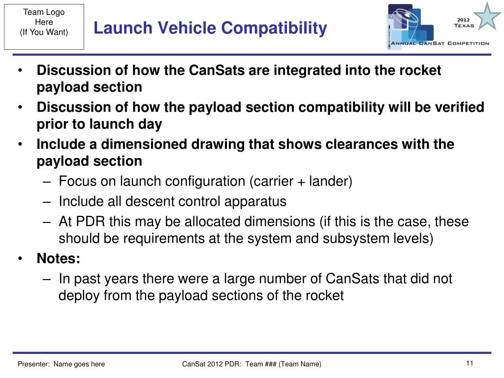 Launch Vehicle Compatibility