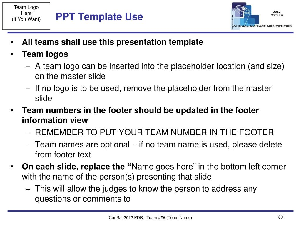 PPT Template Use