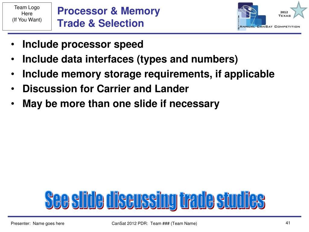 Processor & Memory