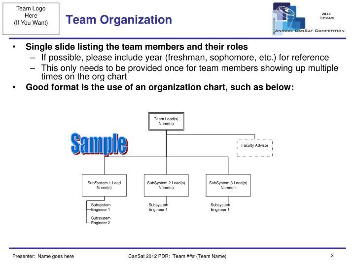 Team organization