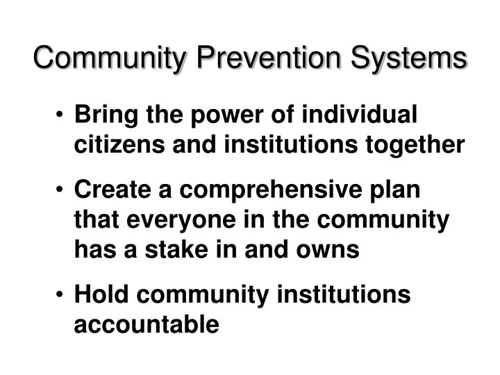 Community Prevention Systems