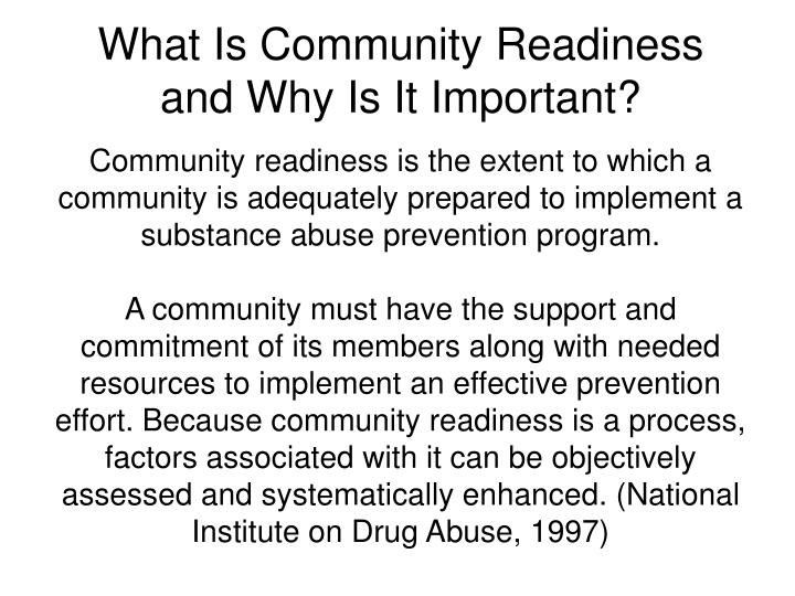 What Is Community Readiness