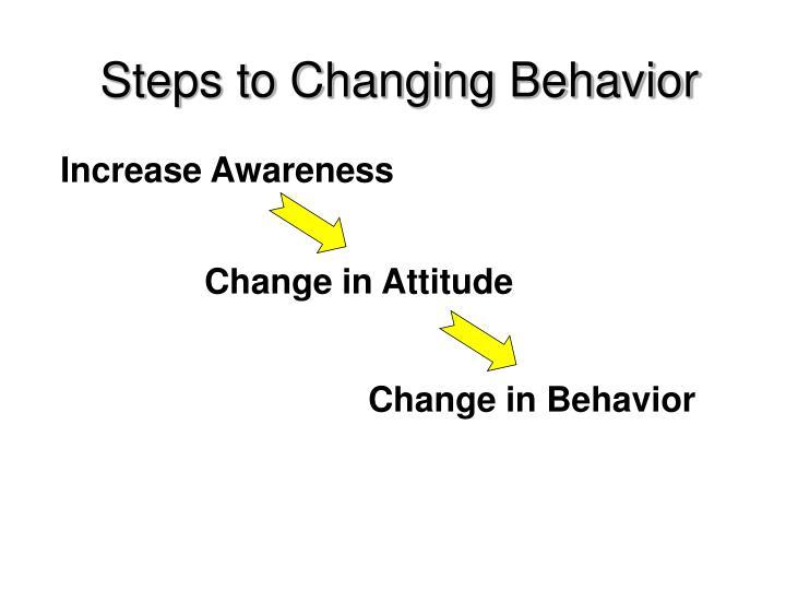Steps to Changing Behavior